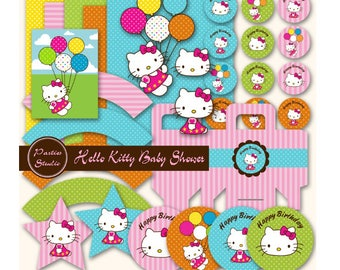Hello Kitty Birthday Decorations | Pink Hello Kitty Party | Hello Kitty Birthday Party Decorations Printable