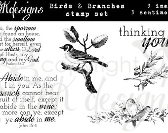 Birds and Branches Digital Stamp Set