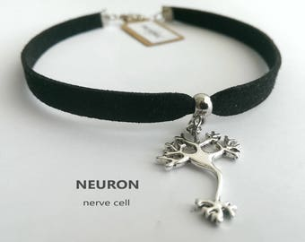 Neuron Necklace choker, neuron bracelet, nerve cell necklace, Brain Cell Pendant, Neuroscience Jewelry, Biology gift, doctor gift, student