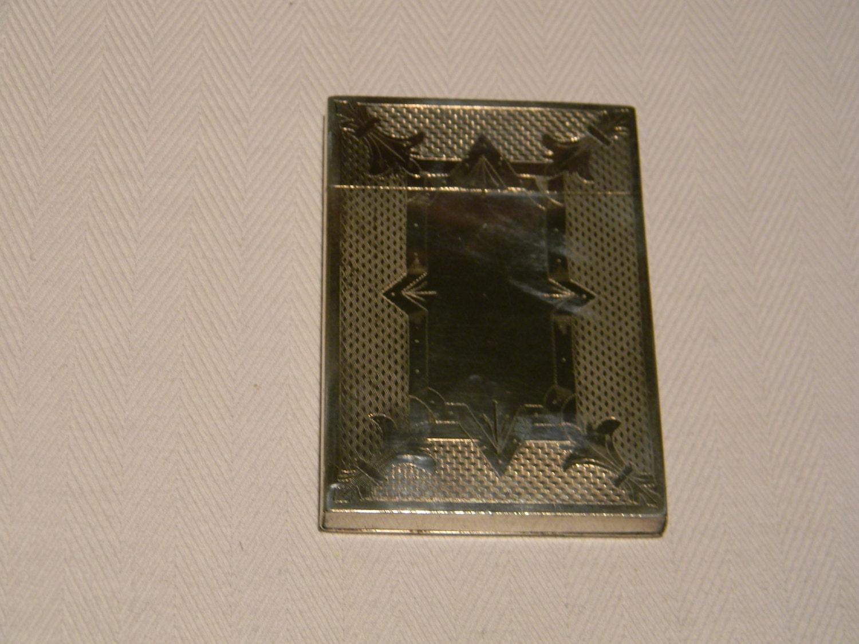 Antique Coin Silver Calling Card Case