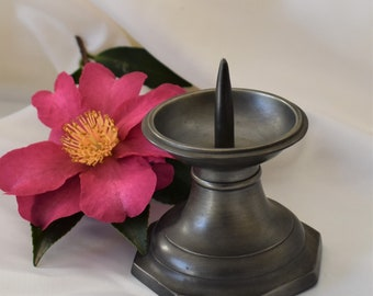 Vintage French pewter candlestick