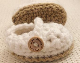 Crochet Newborn Mary Janes