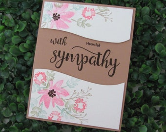 Pastel Floral Sympathy Card, Two Sentiments Included for a Personal Touch, Sympathy Card