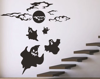 Halloween Wall Decals Stickers Ghost Halloween Decor Stick on Wall Art Decals Home Decor by DecalIsland-Halloween Wall Decals Ghost Decal & Cool wall stickers   Etsy