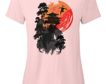 The Ninja Escape Japanese Anime Beautiful Design Gift For Her