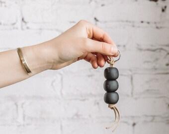 Clay Beaded Keychain