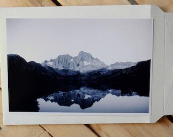 Banner Peak Reflecting Over Garnet Lake, California, 35mm photo print