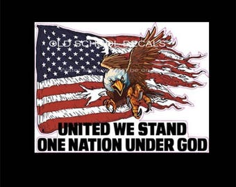 United We Stand One Nation Under God Sticker/Decal