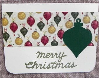 Ornament Christmas Card, Christmas card set, Holiday card set, Handmade Christmas card