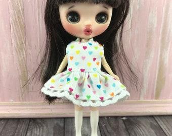 Petite Blythe Dress - Rainbow Hearts