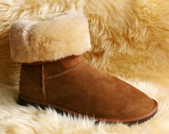 Women's Short Boots Made in AUSTRALIA from 100% SHEEPSKIN - Since 1981
