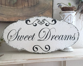 SWEET DREAMS, Nursery Sign, Children's Signs, Baby Shower Gift, 14 x 7