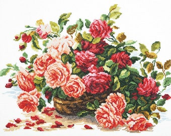 Cross Stitch Kit Flowers / Bouquet/ Cuisine/Roses