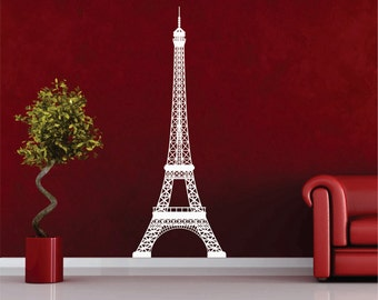 Over 6ft Extra Large Eiffel Tower Vinyl Wall Decal FREE SHIPPING in USA, Paris, Eiffel, Tower, Removable, Decal, Sticker, Vinyl, France