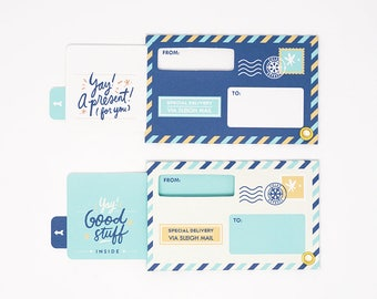 Interactive Holiday Gift Tags by Everyday Yay - Winter Design Set