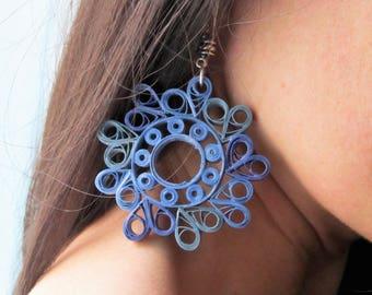 Celestial paper filigree earrings-mod. Vivian
