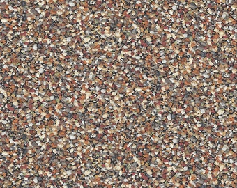 Pebble Fabric, Rock Fabric, Landscape Fabric - Crab Shack by Andover Fabrics 1362 - Priced by the 1/2 Yard