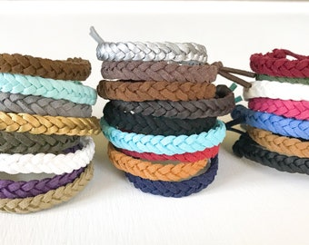 Braided Vegan Leather Essential Oil Aromatherapy Diffuser Bracelet Child/Adult