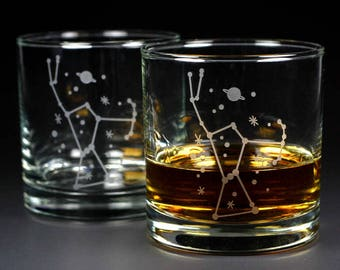 Orion Constellation Lowball Glasses - Set of 2