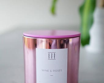 Three Silent Trees   Wine and roses   Pink XL tumbler