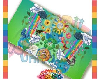 Kawaii Universe - Cute World Peace Showers Designer Towel