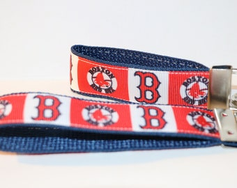 BOSTON RED SOCKS Baseball Team Key Fob Rings in Minis and 10""