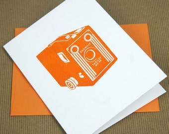Brownie Camera Letterpress Card