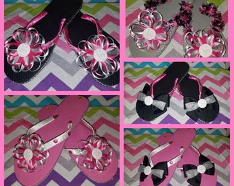 Thirty One Flip Flops 2018 Conference - this listing is for 1 pair - bottle cap image