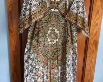 Vintage Dashiki Batik Cotton Caftan 70's