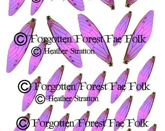Assorted pink fairy wings