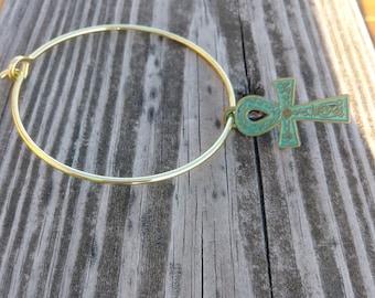 Charm Bracelet/Ankh Charm/African,Egyptian,symbol,Spiritual