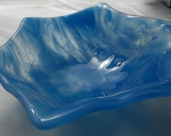 Fused glass bowl.