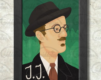 James Joyce print + 3 for 2 offer! size A3+  33 x 48 cm;  13 x 19 in
