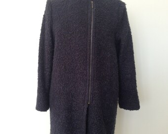 Womens boiled wool winter coat, fully lined