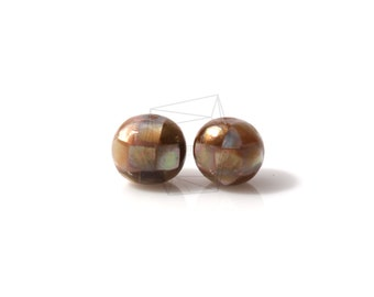 PEA-011-G/4PCS/ Mother of Pearl Mosaic round ball/10mm/Mother of Pearl ball beads