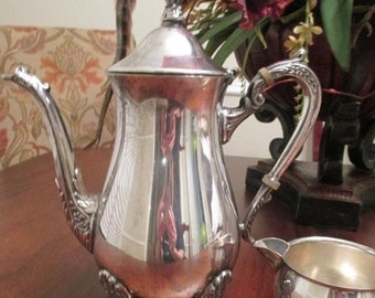 Spring SALE 20% OFF Vintage Leonard Silverplate Tea Pitcher and Creamer~check listing for Coupon Code