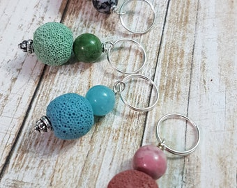 Essential oil diffuser lava bead keychain add on, turn any keychain into an aromatherapy experience