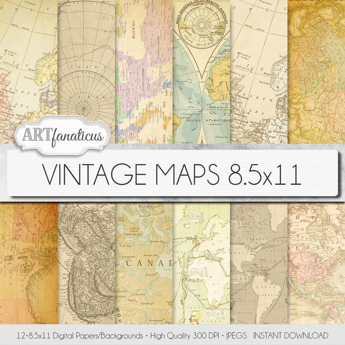 Vintage maps digital paper vintage maps vintage maps 85x11 digital paper vintage maps backgroundsantique maps gumiabroncs Image collections