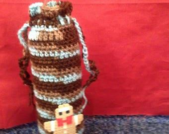 Crocheted wine bottle bags