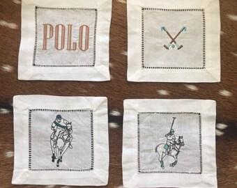 The Last Chukka  - Embroidered Napkins with a Polo Flair