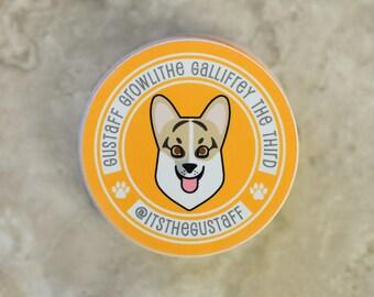 """Gustaff 2.5"""" Round Sticker"""