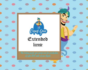 Clipartgenie Extended License - vector graphics, digital clip art, digital images, commercial license