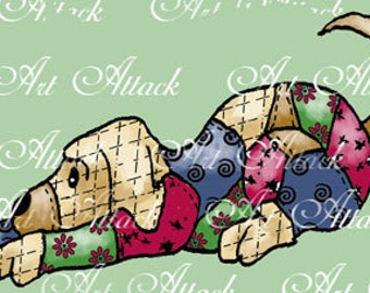 Quilted Cuties Puppy Digital Stamp Set