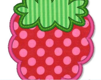 SIMPLE BERRY Applique 4x4 5x7 Machine Embroidery Design INSTANT Download