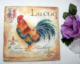 2 Napkins  from Germany Rooster