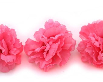 3  Bubblegum Pink Bargain Carnations