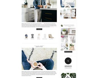 "WordPress Theme // Genesis Child Theme // ""Olivia"""