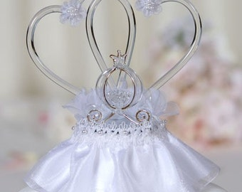 Pumpkin Coach Cake Topper With Glass Hearts - 100513