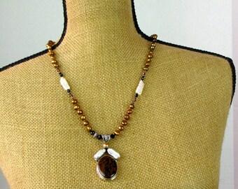 Mahogany Obsidian Stone Pendant