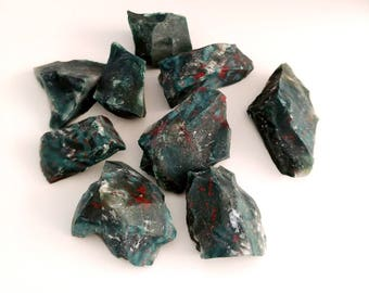 Bloodstone Rough, Premium AAA Grade,Raw Bloodstone, Cleansing stones, Chakra Stones, Protection, Guidance and Grounding, Reiki Stones,